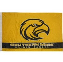 Southern Mississippi Eagles Embroidered/Appliqued Flag