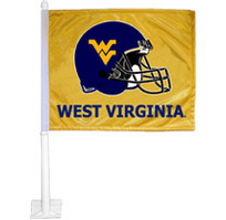 WVU Mountaineers Car Flag