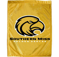 Southern Mississippi Eagles Garden Flag with Window Bracket