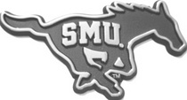 SMU Mustangs Chrome Plated Car Emblem
