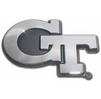 Georgia Tech Chrome Plated Car Emblem