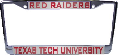 Texas Tech Red Raiders Aluminum License Plate Frame