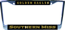 Southern Mississippi Eagles Aluminum License Plate Frame