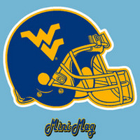 WVU Mountaineers Mini Car Magnet