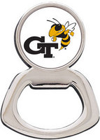 Georgia Tech Silver Tone Bottle Opener Magnet