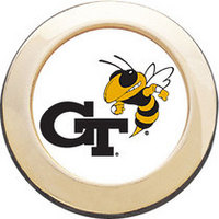 Georgia Tech Round Magnet