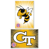 Georgia Tech Two Pack Rectangular Magnets from Wincraft
