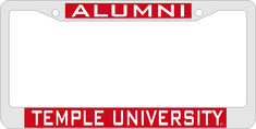 Temple Laser Magic License Plate Frame