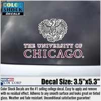 University of Chicago Color Shock Mascot Decal