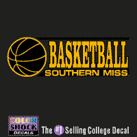 Southern Mississippi Eagles Color Shock Mascot Decal