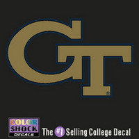 Georgia Tech Color Shock Wordmark Decal