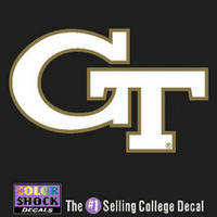 Georgia Tech Color Shock School Name Decal