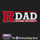 Rutgers Scarlet Knights Colorshock Decal