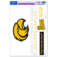 Southern Mississippi Eagles Wincraft Decal Sheet