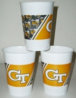 Georgia Tech Plastic Cups