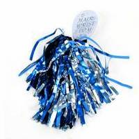 SMU Mustangs Shimmer Hair Pom