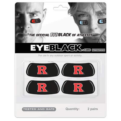 Rutgers Scarlet Knights MCM Eye Black Decal