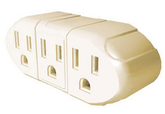3 Grounded Outlet Wall Adapter