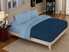 Blue Royale Jersey Twin Extra Long Sheets