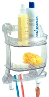 Suction Shower Shelf Caddy Clr
