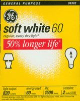 GE 60 Watt Lightbulb 2 Pack