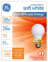 40W Soft White Halogen Light Bulb 2pk