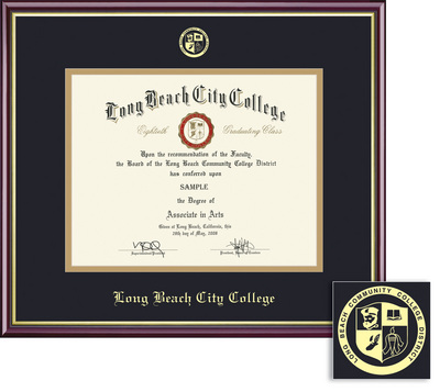 long beach city college lac bookstore framing success academic  framing success academic diploma frame in gloss cherry finish and gold trim