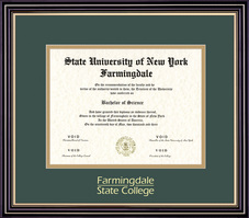 Diploma with Green and Gold Double Mat in Prestige