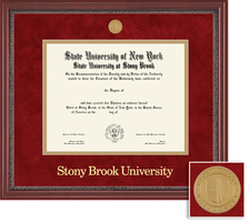 Framing Success Grandeur Diploma Mdl Frame, Double Matted with mahogany finish, carved inner border