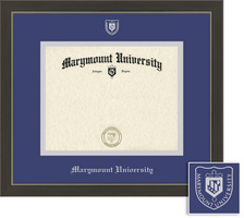Metro Diploma Frame, Eco Hardwood Modern Slate Gray Pewter Finish, School NameSeal Double Mat