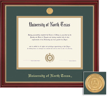 Framing Success Regal PhD MD Diploma Frame in Cherry Finish with Gold Accents