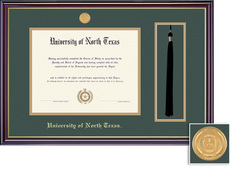 Framing Success Windsor BA MA Tassel Diploma Frame in Gloss Cherry Finish and Gold Trim