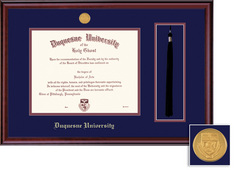 Framing Success Classic Doctorate Diploma Frame with Tassel in a Burnished Cherry Finish