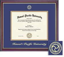Framing Success Windsor BAMA Diploma Frame  Dble Matted in Gloss Cherry Finish, Gold Trim