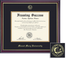 Framing Success Windsor MA Diploma Frame Dble Matted in Gloss Cherry Finish, Gold Trim