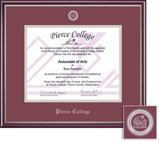 Framing Success Scholastic Diploma Frame Cherry Finish with Silver Accents