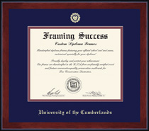 Framing Success Keepsake BA Diploma Frame in Burnished Cherry Finish