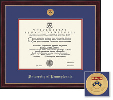 Framing Success Sienna Mdl Diploma Frame, Dbl Matted in Cherry Finish, Black Trim, Gold Beading