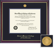 Framing Success Windsor BA, BS, MA, and MS Mdl Diploma Frame, Double Matted in gloss cherry finish