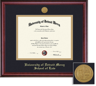 Framing Success Classic Law Diploma Frame, Double Mat Rich Burnished Cherry Finish