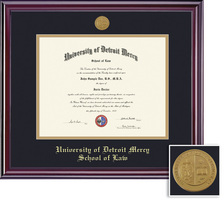 Framing Success Elite Diploma Frame with Medallion, Dbl Matted in Gloss Cherry Finish