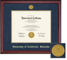 Framing Success Classic Diploma Medallion Frame, Double Matted in Burnished Cherry Finish