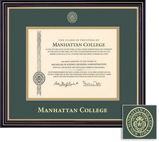 framing success prestige diploma frame double matted in satin black finish gold trim