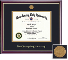 Framing Success Windsor Medallion Diploma Frame, Double Matted in Gloss Cherry Finish, Gold Trim