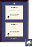 Framing Success Classic MA Dbl Diploma Frame, Double Matted in Burnished Cherry Finish