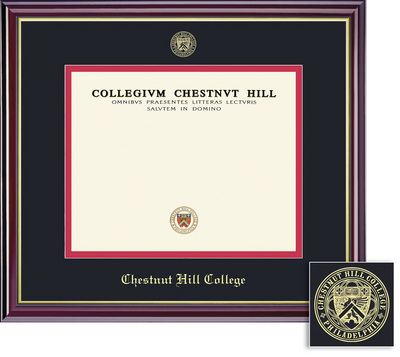 Framing Success Windsor Doctorate Diploma Frame, Double Matted in gloss cherry finish, gold trim