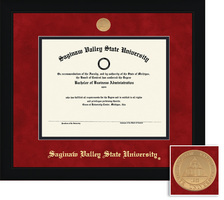 Framing Success Spirit Mdl Diploma Frame, Dbl Matted in black matte finish with angled inner edge