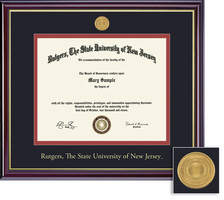 Framing Success Windsor MD with Medallion Diploma Frame, Dbl Matted gloss cherry finish, gold trim