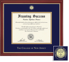 Framing Success Regal Diploma Frame, Double matted in cherry finish with  gold accents