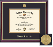 Framing Success Windsor MD Mdl Diploma Frame, Double Matted in Gloss Cherry Finish, Gold Trim